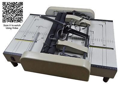 110v Automatic Book Binder Staple Folder Booklet Maker Professional
