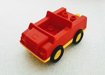 Lego Duplo Vintage Rare Red Small Fire Truck Free Shipping