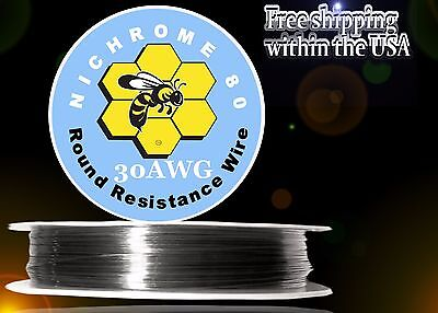 Nichrome 80 30 Gauge Awg Round Wire 100ft Roll .254mm 6.76 Ohmsft Resistance