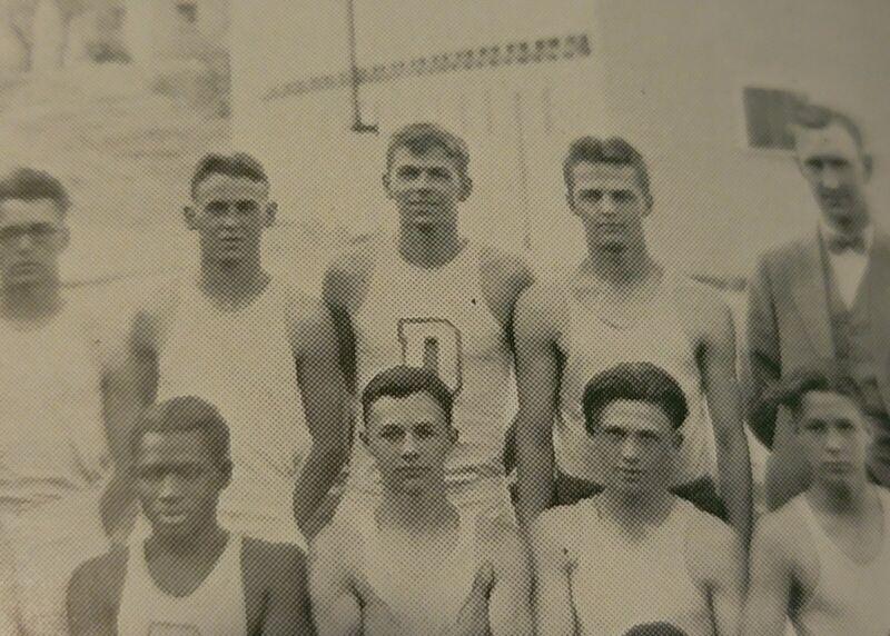 Ronald Reagan Dixon High School Yearbook  1929  Track Team Photo  Rare