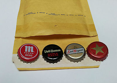 Lot of 4  Spanish Beer Bottle Caps Chapas Crown kronkorken CHAPA TAPPI KAPSULE