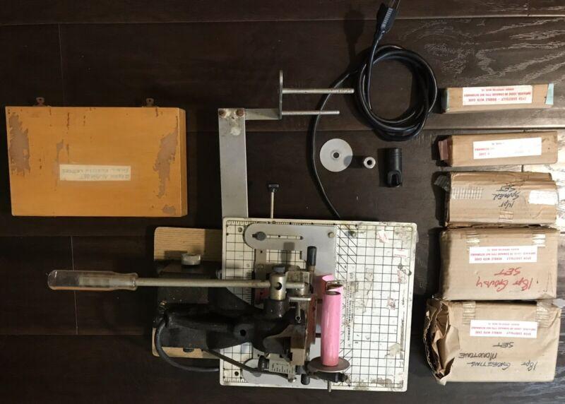 Howard Personalizer Hot Foil Imprinting Machine w/ Monotones&Foil & Attachments