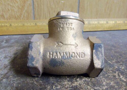 """Hammond – 1"""" Threaded Bronze Check Valve (NOS)"""