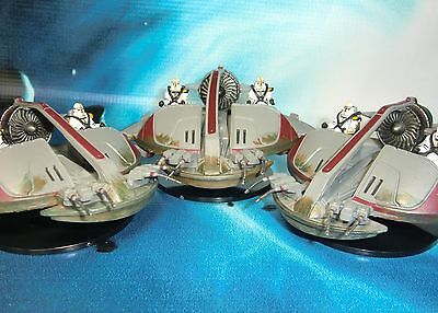 Star Wars Miniatures Lot  ISP Speeder Bounty Hunters !!  s97