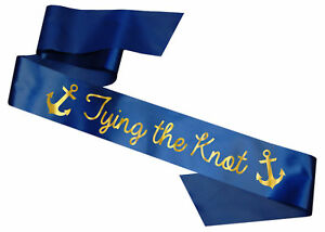 b2f7d69c11e Tying the Knot Sash Hen Party Bride to Be Anchors Sailor Navy Night Do  Accessory