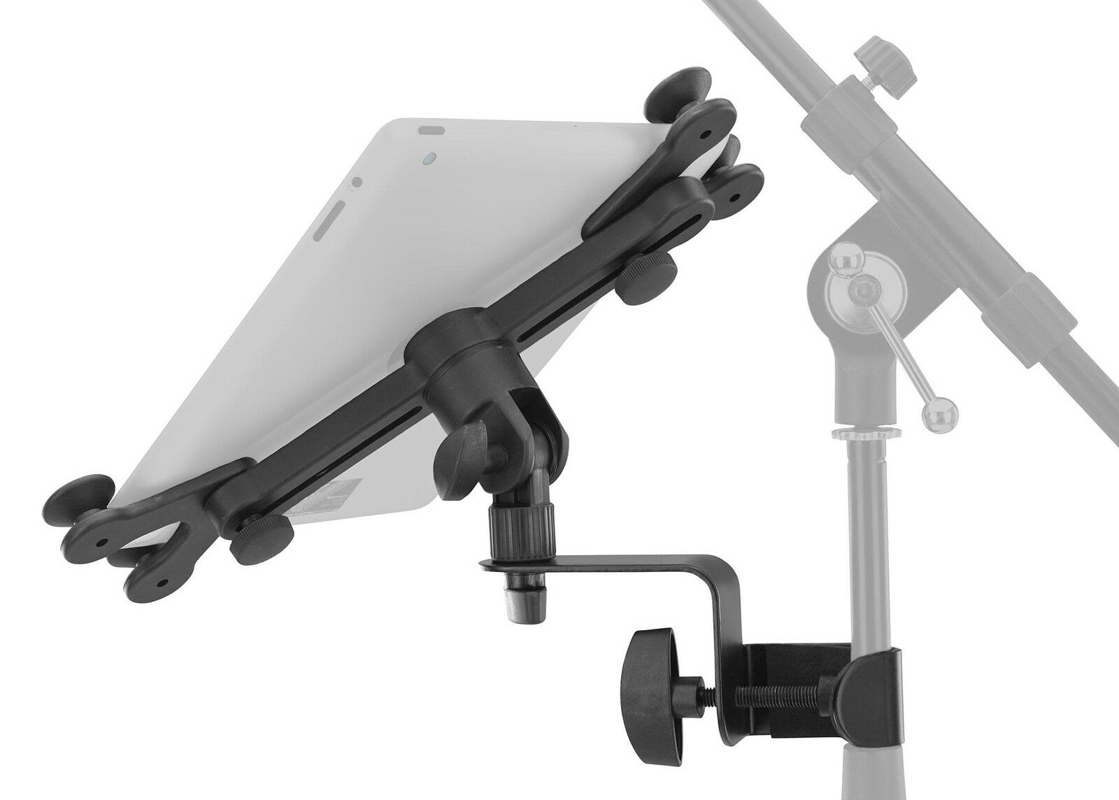 UNIVERSAL TABLET PC Halter Halterung Mikro Stativ Ständer Klemme ...