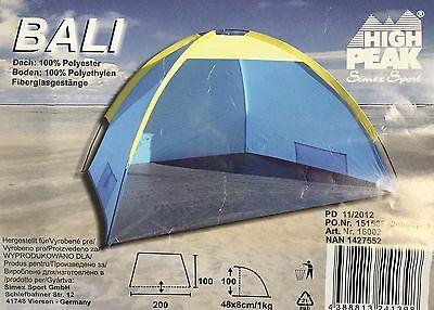 High Peak Zelt Camping Garten Strandmuscheln  200 x 100…  