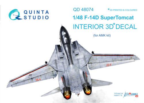 Quinta QD48074 1/48 F-14D 3D-Printed & coloured interior (for AMK kit)