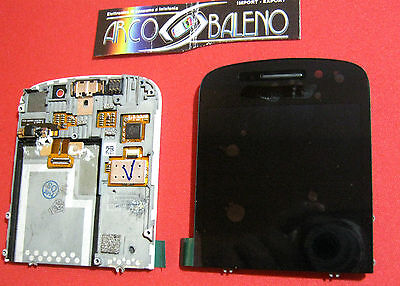 RICAMBIO DISPLAY LCD +TOUCH SCREEN per BLACKBERRY Q10 4G DIGITIZER NERO, used for sale  Shipping to Nigeria