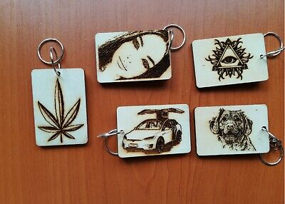 Customizable Keychains (Customizable Photo Keychain, Engraved Keychain Wood,Idea personalised)