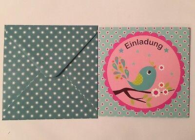 indergeburtstag, Motiv: Vogel, Kinder Geburtstag, Umschläge (Vogel Geburtstag)