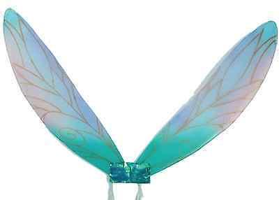 Damen Blau Elfe Schmetterling Mini Biest Feenflügel Kostüm Kleid Outfit ()