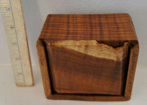 Old Hawaiian Box of Mixed Woods Koa/Kou VERY UNUSUAL Honolulu Flea Market Pick