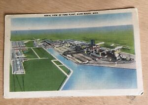Vintage Post card Ford Plant