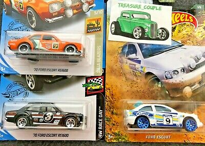 Hot Wheels - Lot of 3 - FORD - '70 Escort RS1600 - Walmart Excl. & Gumball E71