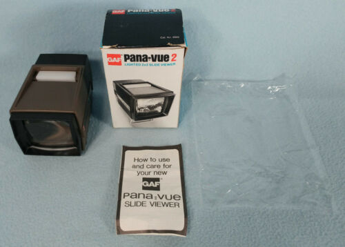 GAF Pana-Vue 2 Lighted 2X2 Slide Viewer With Box - Working