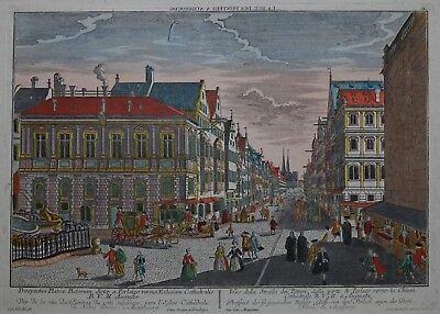 Augsburg - Guckkastenblatt Karolinenstraße 2 - Original von Probst 1750 - Rar