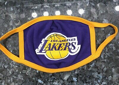 Lakers Face Mask Cover, Reusable, Washable, Los Angeles Lakers, 100% Cotton