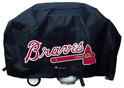 Atlanta Braves Vinyl Barbecue Grill Cover Large Universal Fit Baseball