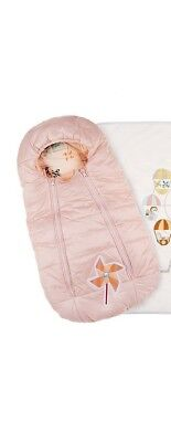 23d5a6b1a NWT NEW Fendi Baby Girls pink padded foot muff nest sleeping bag