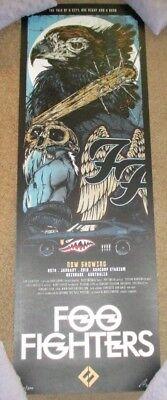FOO FIGHTERS concert gig poster print BRISBANE 1-25-18 2018 print rhys cooper