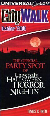 City Walk Halloween Orlando (2008 Universal Orlando CityWalk Fold Out Map & Guide - Halloween Horror)