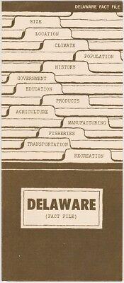 1960's Delaware Facts & Information Brochure