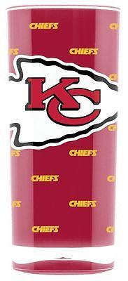 Kansas City Chiefs Square Insulated Acrylic Tumbler - 16oz [NEW] NFL Cup Mug
