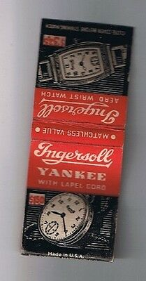 Ingersoll Yankee Pocket Watch Aero Wrist Watch Front Striker Matchbook Cover