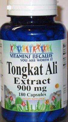 Tongkat Ali Extract 900mg  180 Capsules( Pasak Bumi ) Longjack  Sexual Health