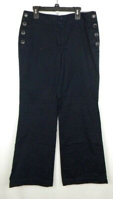 The Loft Julie Trouser Navy Sailor Pants Womens Size 6 Petite Cotton Blend EUC C Navy Sailor Hose