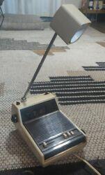 Vtg 1970' or  80's JCPenney Modern Flip Clock Radio Desk Lamp Alarm  Telescoping
