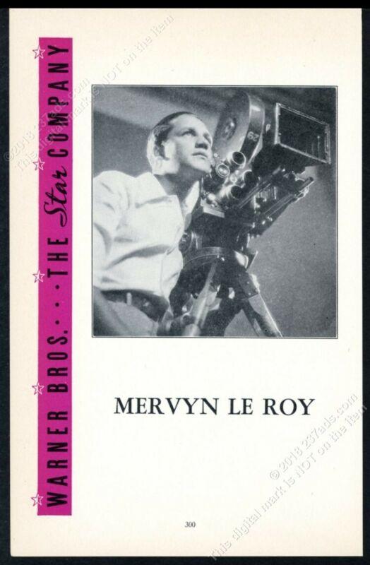 1934 Mervyn Le Roy photo Warner Brothers scarce trade print ad