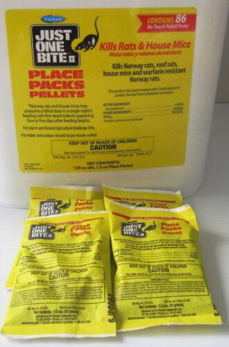 Just One Bite II Pellet Packs (4 Packs)  1.5 Oz packs FRESH! Rat & Mouse Poison