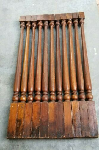 Lot of 20 ~ Early 1900s Antique Heart Pine Staircase Balusters Spindles