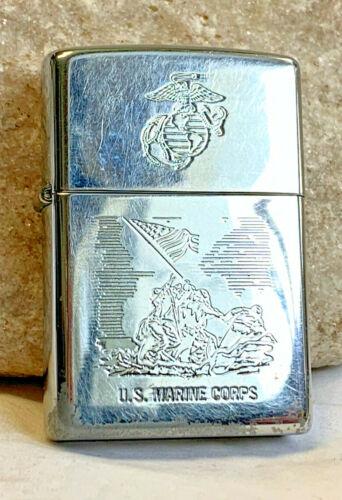 2000 Zippo US Marine Corps Etched USMC Iwo Jima Lighter Smoking Cigar Tobacco