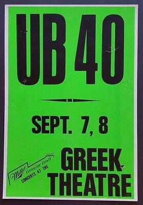 UB40 Original Promo Poster 1988 British REGGAE Ska Dub Bob Marley Neil Diamond