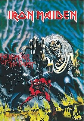Iron Maiden Number Of The Beast large fabric poster / flag 1100mm x 700mm (hr)