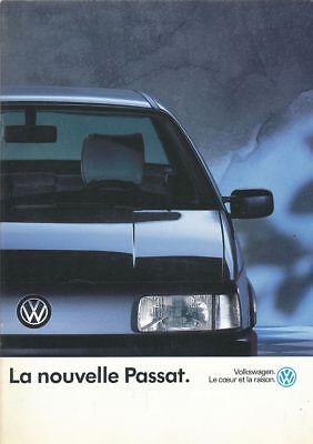 CATALOGUE VOITURE PUB. AUTO AD.CAR VOLKSWAGEN LA NOUVELLE PASSAT 1990 FRANCAIS