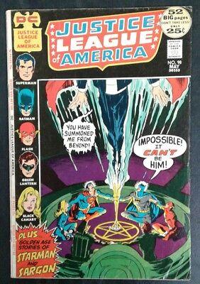 Justice League of America #98 DC Comics Bronze Age Neal Adams Cvr VG 4.0 20% OFF