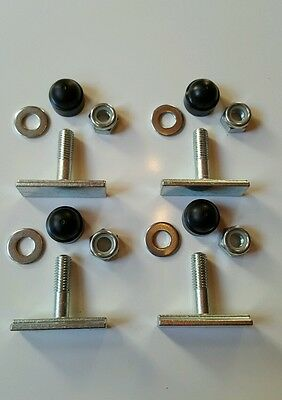unwin tracking removable seat fixings bus van t bar 40mm x 4 t bolts m2 fixings