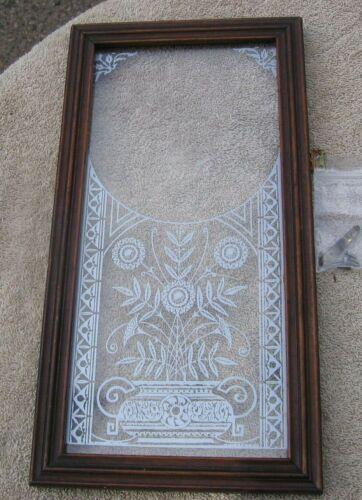 Antique 1882 ANSONIA CLOCK CO USA Mantel Shelf Framed Floral Urn Glass Door~a