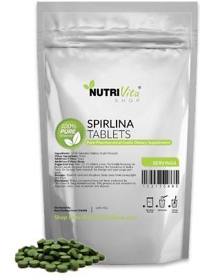 2.5kg (5.5lb) PURE SPIRULINA TABLETS 10,000 X 250mg NATURAL WEIGHT LOSS