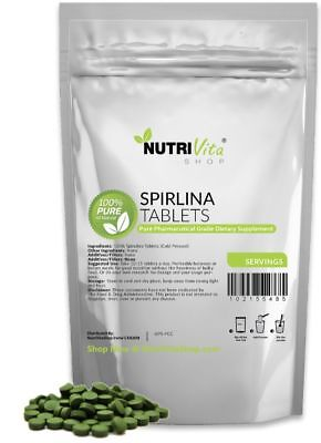 2X 500 Tablets (1000 Tablets x 250mg) PURE SPIRULINA TABLETS NATURAL WEIGHT LOSS