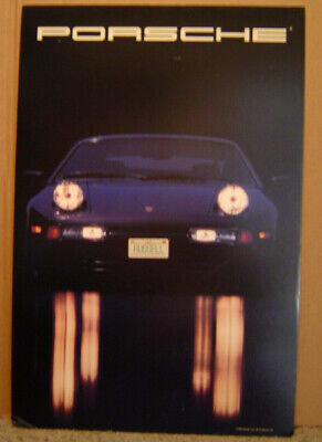 Vintage 1988 928 Porsche Poster With Personalized Plate Sticker Russell