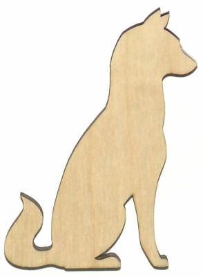 Huskey Dog (Siberian Huskey Dog Unfinished Wood Shape Cut Out S11282 Lindahl)