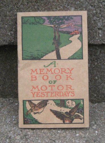 "Vintage 1910 B.F. Goodrich Tire ""Memory Book of Motor Yesterdays"""