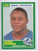 Barry Sanders Rookie Card
