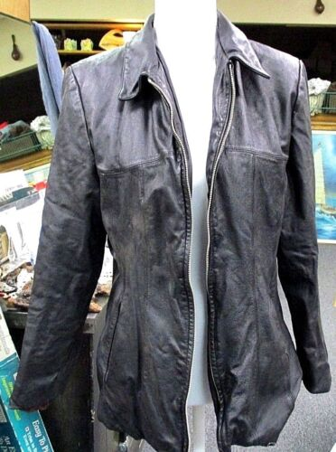 Vintage Wilson Leather Jacket Black Womens XL 80s or 90s style Retro