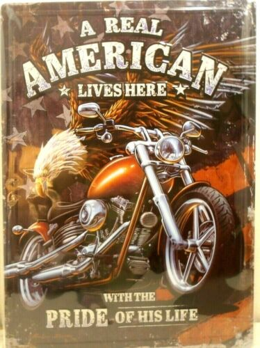"""NEW METAL SIGN MOTORCYCLE SIGN  PLEASE READ SIGN 12"""" X 16.75"""""""